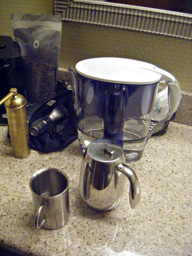 How do pitcher water filters work