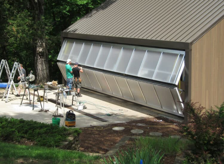 how to get your garage door back on track