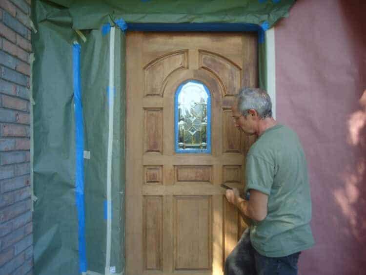 refinishing exterior wood door