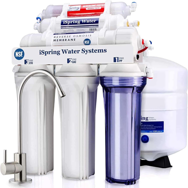 iSpring RCC7AK 6-Stage Reverse Osmosis Drinking Water Filter System