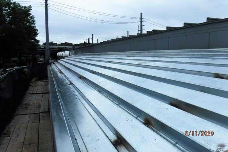 how to walk on a metal roof