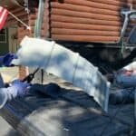 cutting metal roof